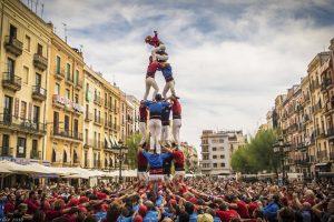 Castellers at Festa Major de Poble Sec | Visit Barcelona With Family