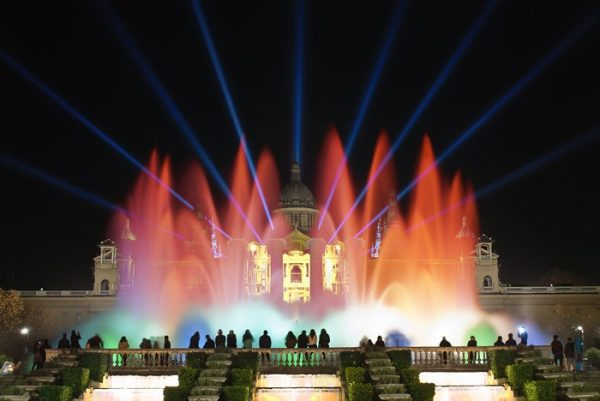 Montjuic Fountain Lights in Barcelona | Visit Barcelona With Family