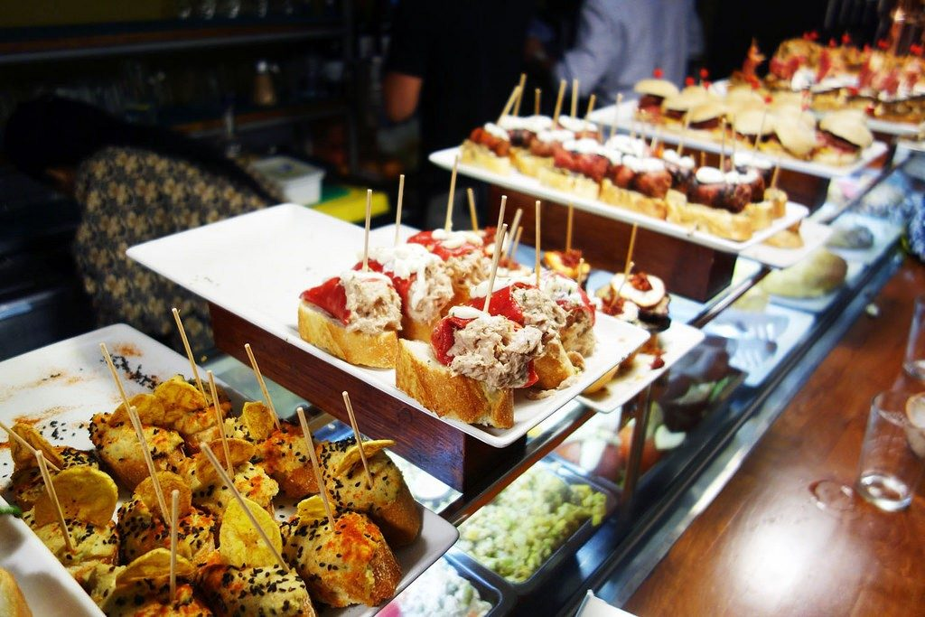 Pintxos in Calle Blai, Barcelona | Visit Barcelona with Family