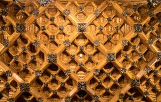 Palau Guell wooden interior