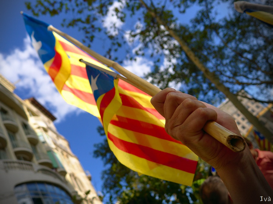 How do they Celebrate the National Day of Catalonia in Barcelona?